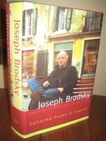 1st Edition Collected Poems Joseph Brodky Nobel Prize First Printing Poetry