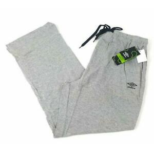 BRAND NEW! - Umbro Men's Knitted Jersey Pants - LT Heather Grey Haze - LIGHT