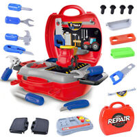 Childrens 27 Pcs Tool Bench PlaySet Work Shop Tools Kit Boys Kids Workbench Toy