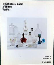 Catalogue de vente Verrerie  Objet de Vitrine Orfevrerie Noix de coco Carafe