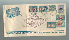 1930 Argentina LZ 127 Graf Zeppelin Cover to Germany # C20 C22 C23 First Flight