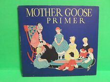 1934 CHILDRENS MOTHER GOOSE PRIMER BOOK ILLUSTRATED MARIE SCHUBERT PICTURES
