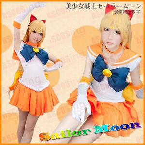 Sailor Moon Sailor Venus Mizuno Ami Aino Cosplay Costume Halloween Costume Anime