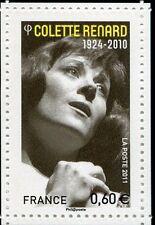 FRANCE 2011, timbre COLETTE RENARD, MUSIQUE, ARTISTES de la CHANSON, neuf**