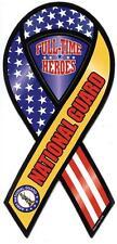 """8"""" ARMY NATIONAL GUARD Awareness Car Ribbon Magnet Full Time Heros"""