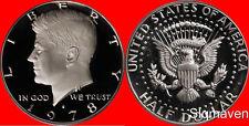 1978 S Kennedy Half Dollar Deep Cameo Gem Proof No Reserve