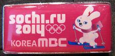 2014 SOCHI Olympics SEOUL KOREA MBC MUNHWA BROADCASTING Hare Mascot Media pin
