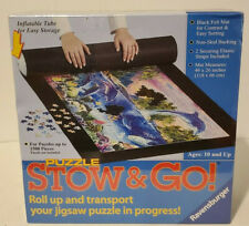 NEW-Sealed Puzzle Stow and Go Storage System Roll Up Mat 46 x 26 1500 pieces