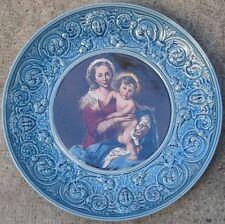 Sarreguemines Plat 40 cm Vierge à l'Enfant Jésus