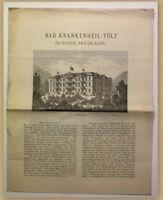 Orig. Prospekt Bad Krankenheil Tölz um 1890 Kurort Reise Ortskunde Bayern sf