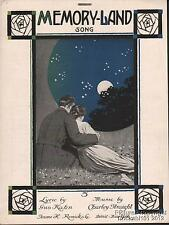 1919 Gus Kahn and Charley Straight Sheet Music (Memory-Land)