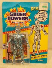 Super Powers Brainiac Figure Mint On 23 Back US Card Unpunched By Kenner (MOC)