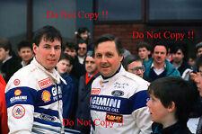 Colin McRae & Jimmy McRae Ford Rally Portrait 1990 Photograph