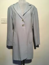 Grace Collection Suit Jacket Blazer Light Blue Smart Long Size 16 Wool Mix