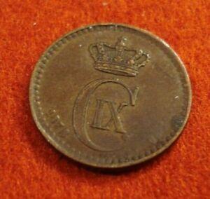 Denmark 1 Ore 1878 Overstruck last 8