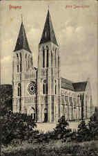 Bregenz Vorarlberg Österreich alte frankierte AK 1922 An der Herz Jesu Kirche