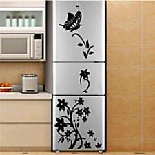Kitchen Wall Stickers Butterfly Flower Vine Refrigerator Home Decor Adornment B