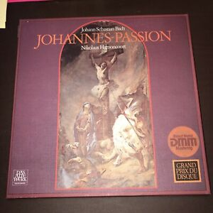 Bach-Johannes Passion 3 LP Box Harnoncourt 959f