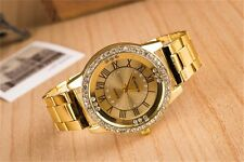 Fashion Women Lady Roman Watch Stainless Steel Band Analog Quartz Wrist Watch