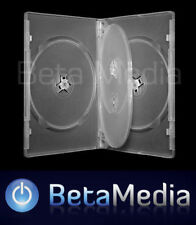 5 x Quad Clear 14mm Quality CD / DVD Cover Case - HOLDS 4 Discs