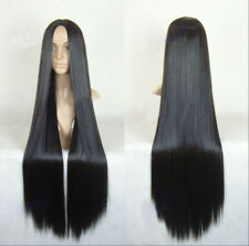 100cm Sexy Women Full Long Straight Hair Wigs Cosplay Costume Party Black Wig