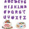 26Pcs/set Alphabet Number Letter Fondant Cake Cookie Cutter Pan Mold Biscuit DSU