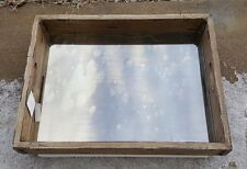 """Pottery Barn Antique Wood Mirror Tray 22"""" x  17"""" Riveted Corners Rare New in Box"""