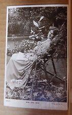 Postcard actress Miss Zena dare Relaxing in the garden Rotary photo card unposte