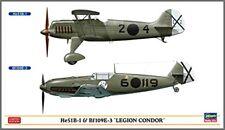 Hasegawa 1/72 He51B-1 & Bf109E-3 Condor Legion Model Kit NEW from Japan
