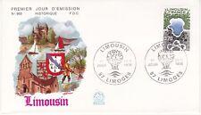 Enveloppe 1er jour FDC n°965 - 1976 : Région Limousin