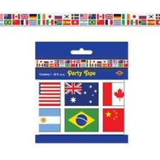 International Flag All-Weather Poly Party Tape Olympics Travel Decoration