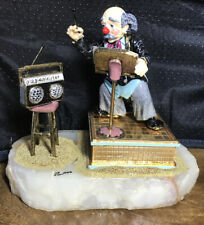 "RON LEE Clown Sculpture ~ 7.5"" Clown Maestro - Music Conductor ~Signed w/box LE"