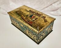 Vintage Biscuit Tin-Advertising-Huntley & Palmers-A Lost Cause-Painting James II