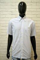 LACOSTE Camicia a Righe Uomo Taglia 41 ( L ) Maglia Manica Corta Shirt Man