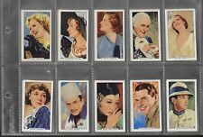 """GALLAHER 1935  FILM STARS - COMPLETE 48 CARD SET  """" PORTRAITS OF FAMOUS STARS  """""""
