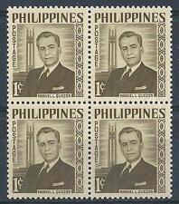 Philippines 1959 Sc# 812 Manuel Quezon block 4 MNH