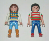 Playmobil Figurine Personnage Lot Couple Homme Tee-shirt + Femmes Pull NEW