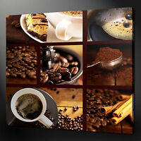 BREAKFAST COFFEE KITCHEN DESIGN WALL ART PICTURE CANVAS PRINT READY TO HANG