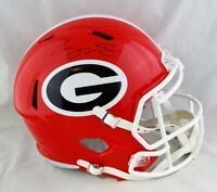 Roquan Smith Autographed Georgia Bulldogs F/S Speed Helmet-Beckett Auth *Black