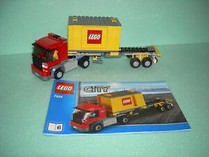 LEGO City Eisenbahn #7939 - LKW mit Container und Bauanleitungen !!!