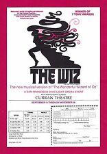 "Stephanie Mills ""THE WIZ"" 7 Tony Awards / Curran Theatre '79 San Francisco Flyer"