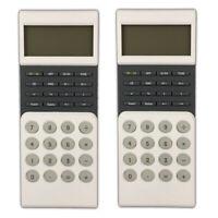 2 Stück Tischrechner mit Zeitangabe | LCD Taschenrechner | Bürorechner Rechner