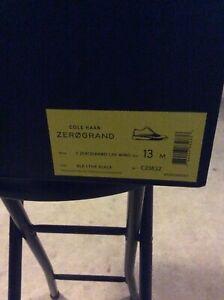 Cole Haan Men's 2.ZeroGrand Lined Laser Wingtip Oxford Black Style C23832 Sz. 13
