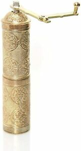 Turkish Handmade Copper Coffee Grinder Mill Manual (8.6 inches 22cm) Autentic