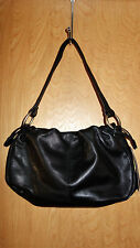 NWT KENNETH COLE-New York Black Leather Hobo Style Bag / Purse
