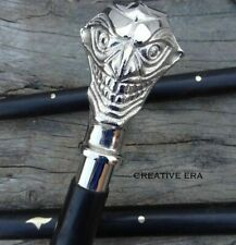 Vintage Designer Joker Handle Antique Style Victorian cane Wooden Walking Stick