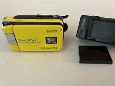 SANYO VPC-WH1 HIGH DEFINITION ZOOM CAMCORDER WATERPROOF YELLOW