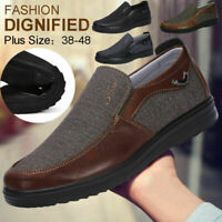 Men's Casual Leather Driving Shoes Breathable Antiskid Slip On Loafers Moccasins