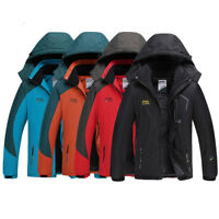 Mens Winter Warm Ski Snow Climbing Hiking Waterproof Thicken Jacket Outdoor Coat