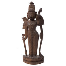 """Antique Thailand Aisan Standing Hand Carved Wooden Figure 9.25"""""""